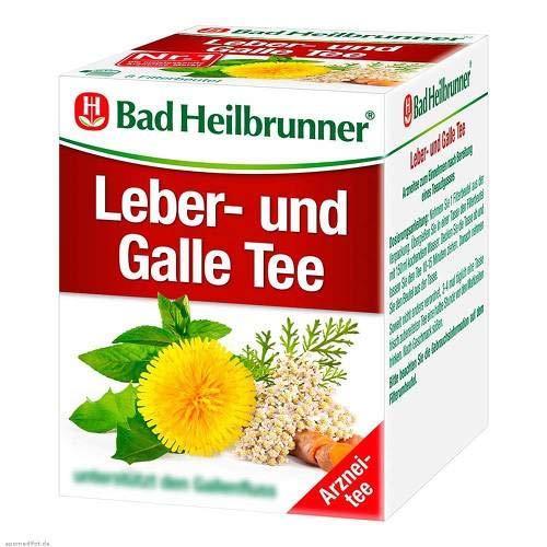 Bad Heilbrunner Tee Leber und Galle 8 Filterbeutel, 1er Pack -