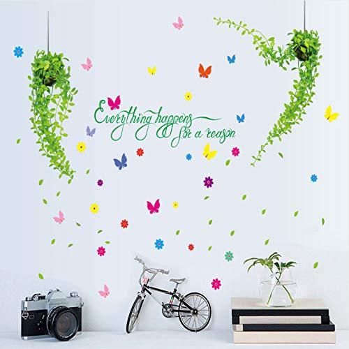 Knncch Baum Rattan Hörner Zimmer Dekoration Wand Aufkleber Wand Aufkleber Schlafzimmer Warme Romantische Nachttisch Tapeten Aufkleber