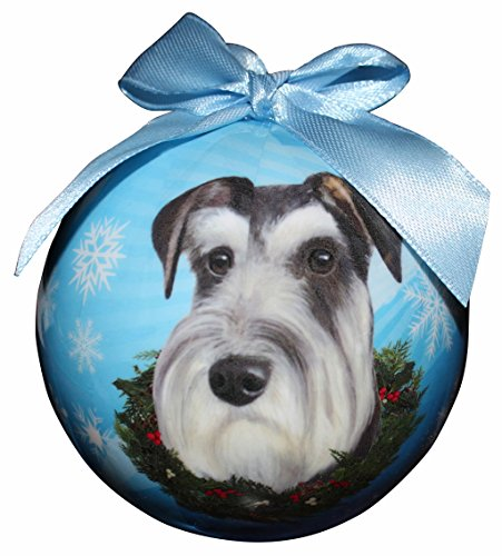 Schnauzer Christmas Ornament Shatter Proof Ball Easy To Personalize A Perfect Gift For Schnauzer Lovers by E&S Pets