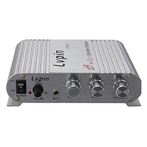 Auto-MP3-Verstaerker - LVPIN Hifi-Audio Stereo Super Bass Verstaerker Amp MP3 fuer Auto-Motorrad-Boots-12V