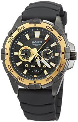 Reloj de caballero Reloj de caballero Casio MTD1069B1A1 - Reloj de Caballero caucho Oro de Casio