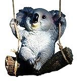 szlsl88 Ornamento per la casa Giardino Statua Accessori Artigianato in Resina Casa Cartoon Figurine Paesaggi di Scena Ufficio Simpatiche Decorazioni Altalena Koala Animale(1)