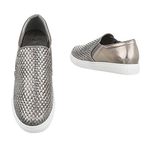 Ital-Design , chaussons dintérieur femme Bronze Silber WXY3226