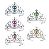 TOYMYTOY Prinzessin Tiara Crown Set, Mädchen verkleiden sich Party-Zubehör, 5pcs