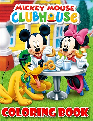 Mickey Mouse Clubhouse Coloring Book: 37 Exclusive Illustrations For Adults and Kids