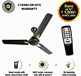 Gorilla Energy Saving 5 Star Rated 1200 mm Premium Ceiling Fan With Remote Control And Bldc Motor- Earth Brown