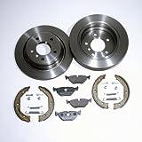 Bremsscheiben belüftet/Bremsen 294 mm + Bremsklötze + Handbremse + Zubehör für hinten/für die Hinterachse