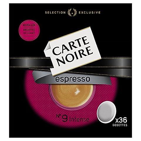 Carte Noire Espresso Intense N°9 - 180 Dosettes souples (Lot de 5 X 36)