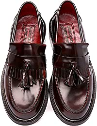 Delicious Junction - Mocasines de cuero para hombre rojo Oxblood