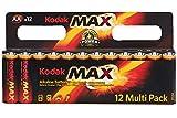 Kodak Max pilas alcalinas AA (12 unidades)