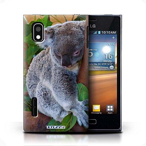 KOBALT® Hülle Case für LG Optimus L5/E610 | Krokkodil/Alligator Entwurf | Wilde Tiere Kollektion Koala