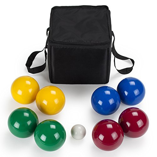 n Bocce Ball Set with Carrying Case, 90mm by Crown Sporting Goods by Crown Sporting Goods ()