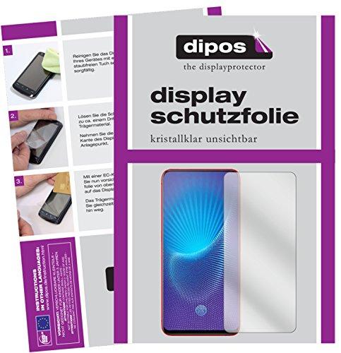 dipos I 2X Schutzfolie klar passend für Vivo NEX S Folie Bildschirmschutzfolie