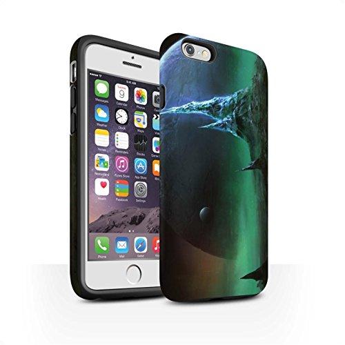 Offiziell Chris Cold Hülle / Matte Harten Stoßfest Case für Apple iPhone 6S / Pack 12pcs Muster / Fremden Welt Kosmos Kollektion Saphir Spitzen