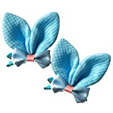 Brand New Baby Girl Hair Clips Toddler Infant Hair Accessories Bowknot Butterfly Design Hair Clips Set of 2 (Light Blue)
