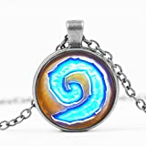 Collana Spirale HEARTHSTONE per Martelfato! Versione ARGENTO - Warcraft HIGH QUALITY