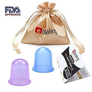 Edealing 2 PCS Cupping Set cinese Therapy Cellulite sanitario sotto vuoto in silicone massaggio Coppe