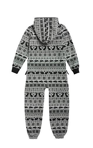 Onepiece Mädchen Bekleidungsset Jumpsuit Kids Hip Hop, Grau (Grey Mel), X-Small (Herstellergröße: 146) - 2