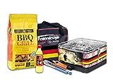Holzkohle Tischgrill TEIDE - Sondermodell - Deutschland - Fußball WM - v. Feuerdesign im Super-Pack mit viel Grill-Zubehör