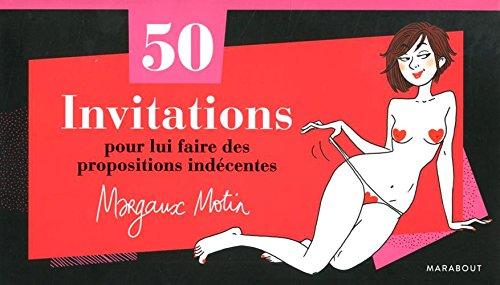 Chéquier 50 invitations pour lui faire des propositions indécentes