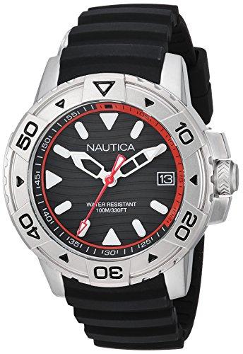 Nautica Homme Analogique Quartz Montre avec Bracelet en Silicone NAPEGT001