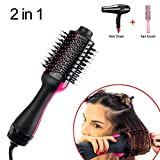 Séchoir à cheveux en une étape et volumateur Multifonctionnel Ellipse Sèche-cheveux pour tous les types de cheveux Générateur d'ions négatifs Redresseur de cheveux Pinceau curler