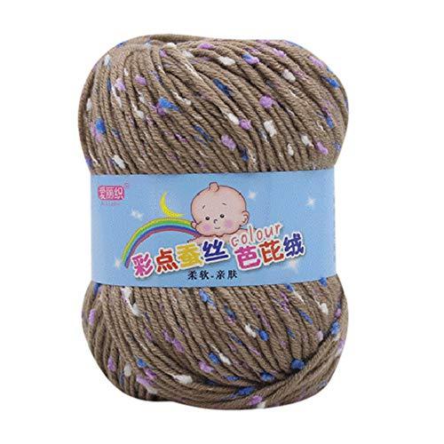 LCLrute 50g Hand Stricken Knicker Garn häkeln weiche Schal Pullover Hut Garn Strickwolle Stricken und Häkeln Babywolle ()
