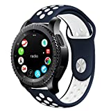 10principales Samsung Gear S3Bracelet de montre, bracelet de rechange Bracelet Sangle en silicone pour Samsung Gear S3Frontier/classique Smart Watch M b