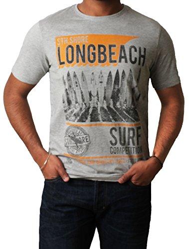 """Männer-T- Shirt gedruckt Grafik Top Kurzarm ' Longbeach """" Sth Shore 1C7622 Bundes Blau"""