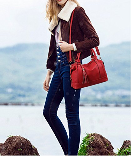 LAIDAYE Frau Tragbare Mode Schulter Messenger Große Tasche Blue