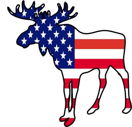 Elch-magnet (Elch Magnet-American Flagge Elch Kühlschrank Magnet-Patriotische Magnet-perfekt Maine Alaska Elch Geschenk-hergestellt in den USA)