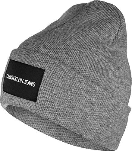 Calvin Klein Herren K50k504935 Strickmütze, Grau (GREY P01), One size (Herstellergröße: OS)