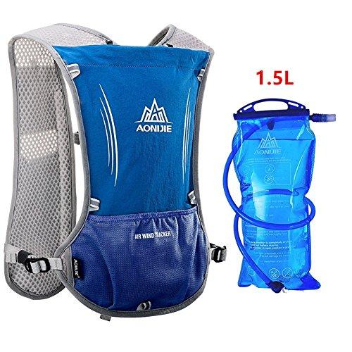 Imagen de aonijie  de hidratación ligera para actividades al aire libre, senderismo, ciclismo, 1,5 litros, azul