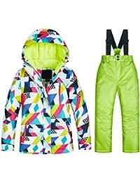 Keamallltd Girls Trajes de Esquí Impermeable Cálido Invierno Chaqueta de  Deporte Al Aire Libre Traje de 69bf58d9d89