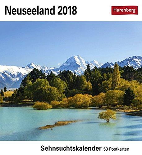 Neuseeland - Kalender 2018: Sehnsuchtskalender, 53 Postkarten
