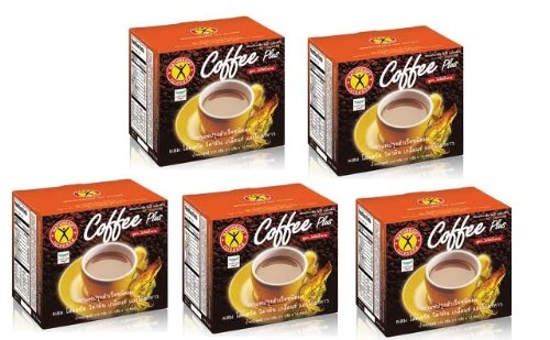 5Boxes Natural Gift Instant Coffee Weight Loss Diet Ginseng Extract with multi-vitamins