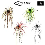 FISHN Dirty Hairy Jig - Silikonfransen, fängige Fransen - Weedguard, Rubber Jigs, Tungsten,...