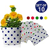 Trust Basket Dotted Grow Bags (Multicolour, Pack of 10)