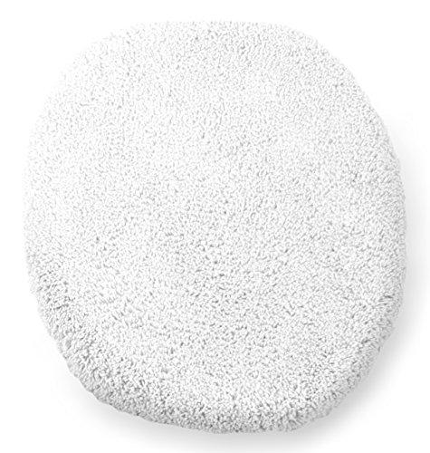 Kinzler J-10000/00 hochwertiger Mikrofaser WC Deckelbezug Uni, 47x50 cm, flusenfrei, pflegeleicht, weiss