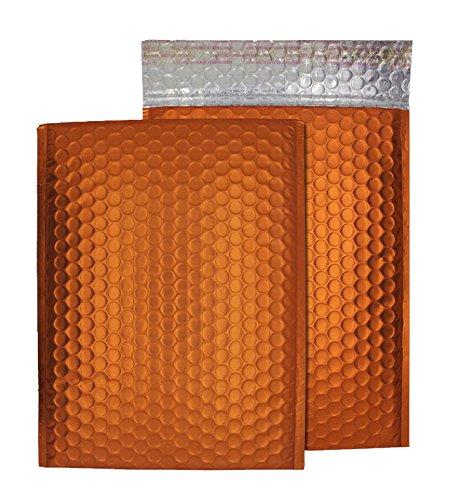 Purely Packaging C5+ 250x 180mm schälen und Seal Matt Metallic Gepolsterte Blase Umschlag–Flame Orange (100Stück)