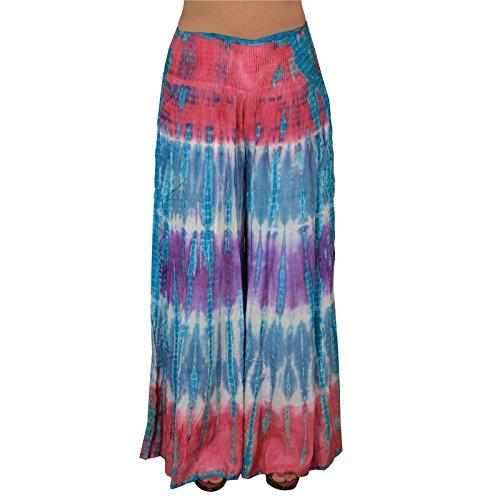 SNS Rayon Tie Dye Pajama Palazzo Pantaloni N Blue