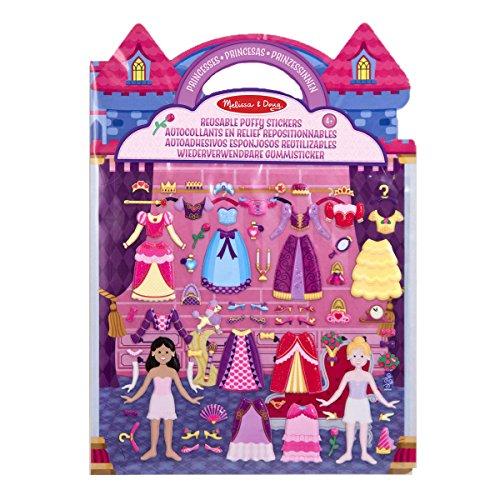 Melissa & Doug Aktivitätenbuch mit wiederverwendbaren Gummistickern - Prinzessin (67 Sticker) (Puppen Melissa Doug)