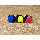Jonglierball 3 set rot-schwarz gelb-schwarz blau-schwarz