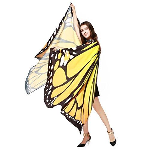 Vêtements LILICAT Womens Fashion Butterfly Wings Châle Foulards Womens Elfes Poncho Vêtements Accessoires Orange