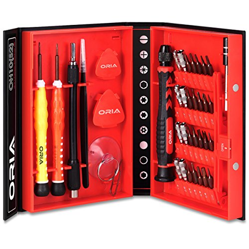 Preisvergleich Produktbild Oria Mini Schraubendreher Set, 38 in 1Professional Magnetische Schraubenzieher Reparatur Tool Kit, Ideal für iphone, iPad, Macbook, Tablets, Laptops, Camera, PC, PSP, Smartphone, Brillen, etc