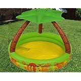 Sommerideen: Aufblasbaren Swimming-Pool für Kinder ; Maßnahmen 142x142x100 cm