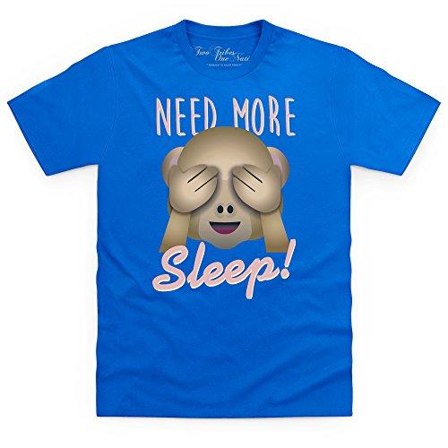 Official Two Tribes Emoji - Need More Sleep T-Shirt, Herren Royalblau