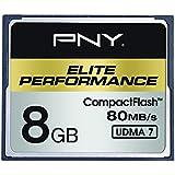 PNY Carte Mémoire CompactFlash Elite Performance 8 Go UDMA 7