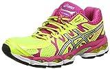 Asics Gel-Nimbus 16, Damen Laufschuhe Training, Gelb (Flash Gelb/Silber/Heiß Pink 793), EU 37.5