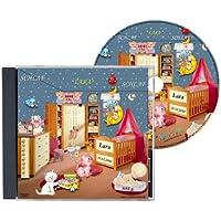 Personalisierte SCHLAFLIED CD gesungen mit dem Namen IHRES Kindes / Wunschname (Zur Taufe, Taufgeschenk, Geburtsgeschenk ...) wirkungsvoller als ein MUSIK MOBILE / Jeder NAME ist möglich ! Spezialanfertigung für Kunde - Inkl. GRATIS A4 Geburtsbild mit all preisvergleich bei kleinkindspielzeugpreise.eu